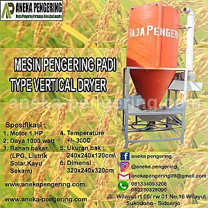 MESIN PENGERING PADI DAN JAGUNG MODEL VERTIKAL (VERTICAL DRYER)